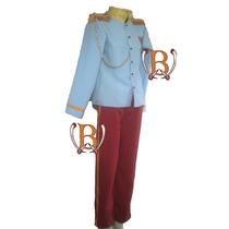 Disfraz Principe Azul Cosplay Vestuario Epoca Premium Adulto