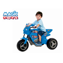 Triciclo Eletrico Infantil 6v Moto Max Turbo Azul Magic Toys