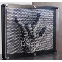 Pin Art Grande Arte Con Clavos Diseña En 3d Cama De Clavos