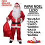 Roupa De Papai Noel Adulto Fantasia - Feliz Natal - P Ao Gg<br><strong class='ch-price reputation-tooltip-price'>R$ 119<sup>00</sup></strong>