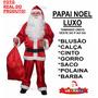 Roupa De Papai Noel Adulto Fantasia - Feliz Natal - P Ao Gg
