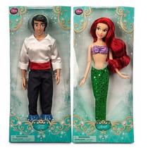 Bonecas Disney Store Pequena Sereia Ariel E Principe Eric