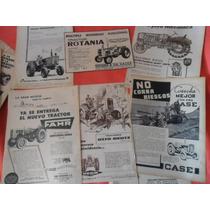 16 Rotania Deutz Fahr Case Tractor Antiguo Publicidad Lote