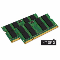 Kit 4gb 2x 2gb Ddr2 800 Mhz Kingston Kvr P/ Notebook E Mac
