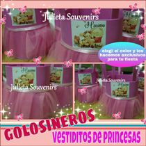 Golosineros En Goma Eva Vestiditos De Princesas