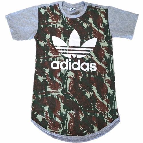 Camiseta adidas Camuflada Comprido Promoção Masculino - R  44 9357d3b6ea937