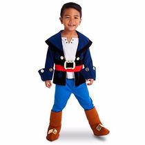 Disfraz Jake Pirata Capitán Disney Store 7/8 Años Entrega In