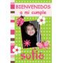 Cartel Bienvenidos/feliz Cumple C/foto Oferta!