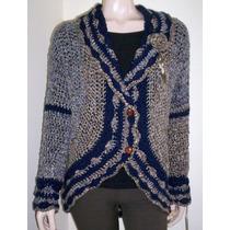Saco Artesanal Tejido Crochet Fibra Fina Exclusivo Mujer