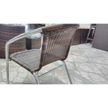 Cadeira Empilhável De Alumínio E Fibra Sintética