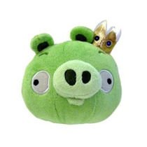 Angry Birds Felpa 5 Pulgadas Rey Cerdo Con Sonido
