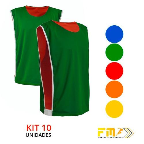 985f9b0f61267 Jogo De Coletes Esportivos Volei Futsal Futebol 10 Unidades - R  139 ...