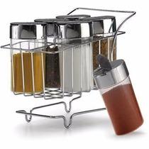 Carrinho Porta Condimentos E Temperos 7 Peças Para Cozinha