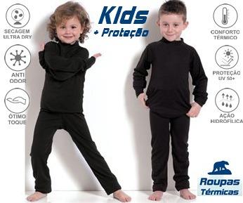 Segunda Pele Infantil Térmica Conjunto Kids Proteção - R  138 386d94ecd8ff9