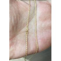 Cordão Baiano De Ouro 18k Italiano 1mm 60 Cm 2,3 Gr