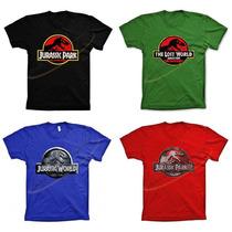Camiseta Camisa Algodão Jurassic Park 1 2 3 Lost World T-rex