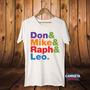 Camiseta Masculina Don Mike Raph Leo Tartarugas Ninja Filme
