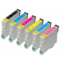 Kit 6 Cartuchos Epson T0481 R200 R220 R300 R320 Rx500 Rx600