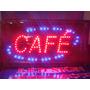 Cartel Led Cafe, Abierto, Kiosco, Bar, O La Que Quieras