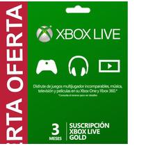 Membresia 3 Meses Xbox Live Gold