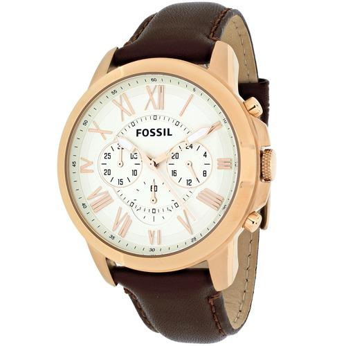 472814abd521 Reloj Pulsera Fossil Grant Cuarzo cuero Marrón Hombre Fs4991 ...