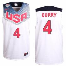 Nba Bordada Seleção Americana Usa Warriors Stephen Curry