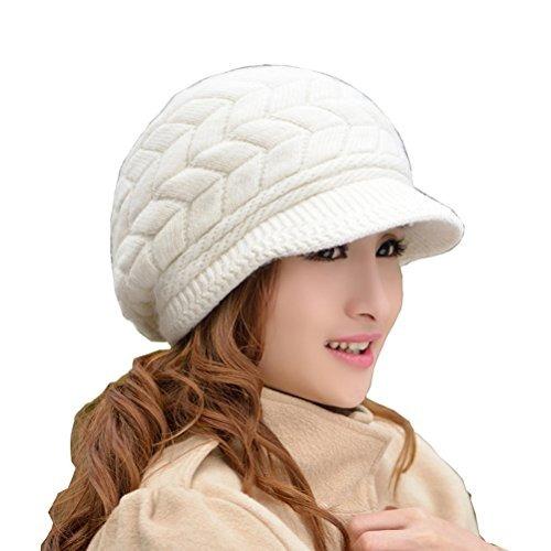 Hindawi Mujeres Invierno Cálido Sombrero De Lana Gorras De -   643.46 en  Mercado Libre e4d18f0d01f