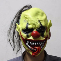 Máscara Palhaço Assassino Terror Assustador Látex + Brinde