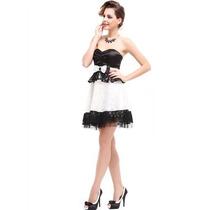 Vestido Imp Ever Pretty Em Renda E Cetim Mod 3070- No Brasil