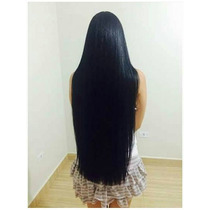 Aplique Tic Tac Preto Liso / 65 Cm / Mega Hair!!!!