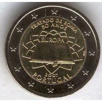 Portugal 2007 Moneda De 2 Euros Sin Circular- Rara