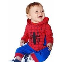 Body Fantasia Para Bebê Homem Aranha- A Pronta Entrega.
