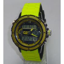 Reloj Hombre Cat Caterpillar Excelente Amarillo Regalo