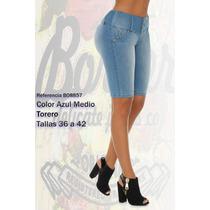 Jeans Colombianos Levanta Cola Color Celeste / Grupoborder