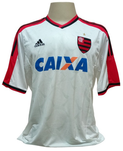 Camisa adidas Flamengo 2014   2015 Branca Frete Grátis - R  130 99eb67d6050db