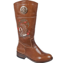 Bota Country Infantil Montaria Lady Silver Couro Mustang Hav
