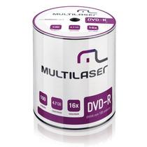 150 Midia Dvd-r Virgem Multilaser C/logo 16x 4.7gb - Lacrado