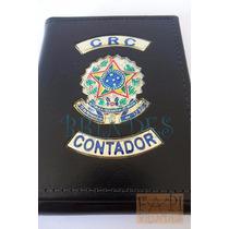 Carteira Couro Legítimo Crc Contador Brasão República C38p