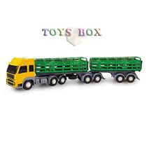 Miniatura Carreta Bitrem Boiadeiro - Caminhão Brinquedo