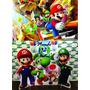 Kit Displays Mario Bross 8 Peças + Painel 2,00x1,40mt