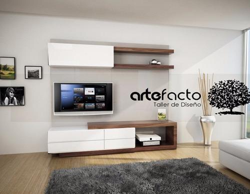 Muebles de entretenimiento de tablaroca 20170715100607 - Muebles para televisiones planas ...