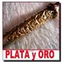 Plata Y Oro Bombilla Antigua 22 Cent Impecable Plateria