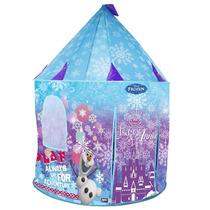 Toca Barraca Portátil Infantil Castelo Frozen Elsa Olaf