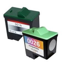 Kit Cartucho Lexmark N16/17 Preto + Lexmark N26/27 Color