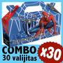Spiderman Hombre Araña Cajita Valijita Bolsita Combo X30