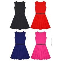 Vestidos Para Niñas Corte Princesa Bebes Ropa Fashion Faldas