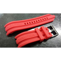 Pulseira Náutica Vermelha 24mm