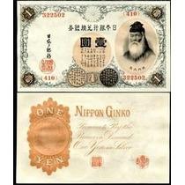 Japão 1 Yen 1916 P. 30c Fe Cédula - Tchequito