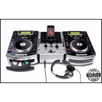 Kit Numark Par De Cdj Ndx 200 + Mixer M1a+headphone