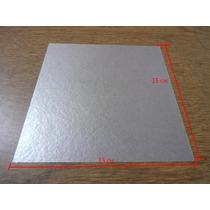 Kit 10 Pc Placa De Mica Para Forno Microondas 15 X 15 Cm